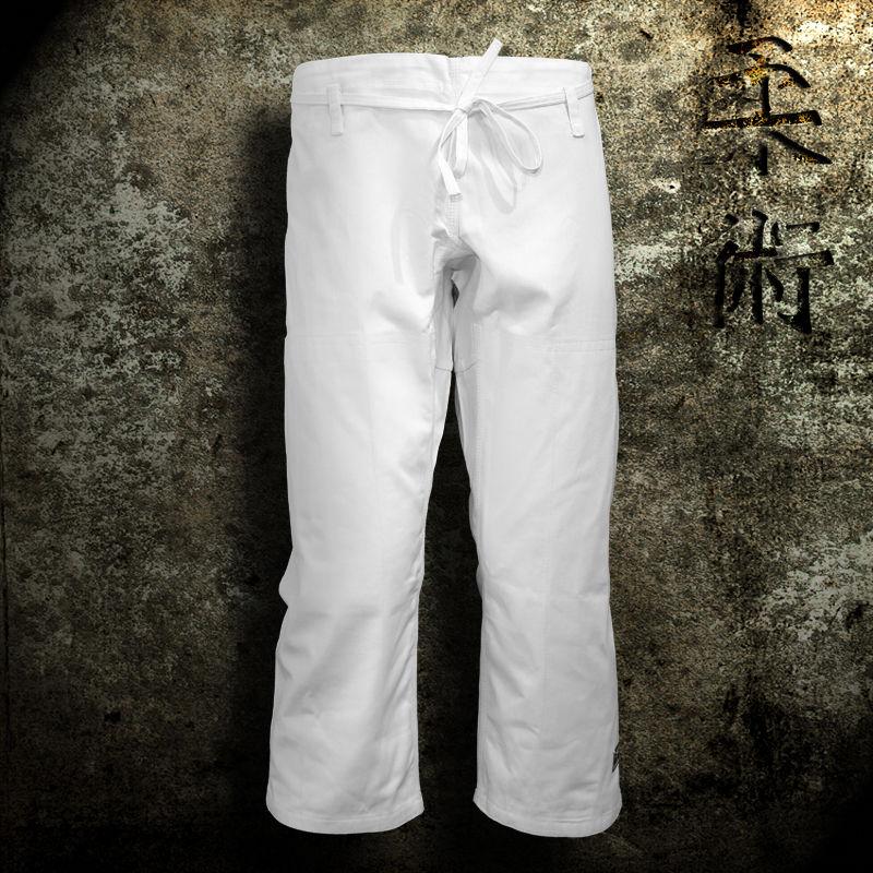 spodnie do ju-jitsu TONBO - MASTER, białe, 12oz - SKAZA