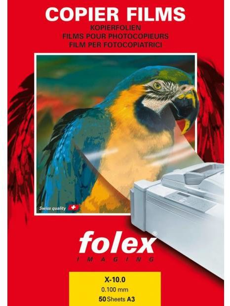 Folia FOLEX X-10.0 - transparentna, dwustronna, 100 mic., A3 / 50 arkuszy (35842)