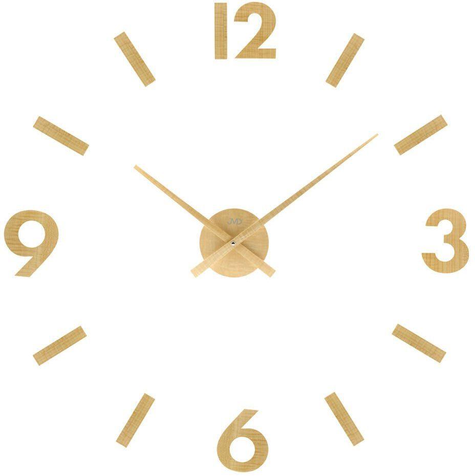 Zegar ścienny JVD HC31.1 naklejany na ścianę, szybę...drewniany