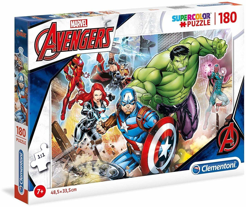 Clementoni 29295 Clementoni-29295-Supercolor Puzzle-The Avengers-180 części, wielokolorowe, 180pezzi