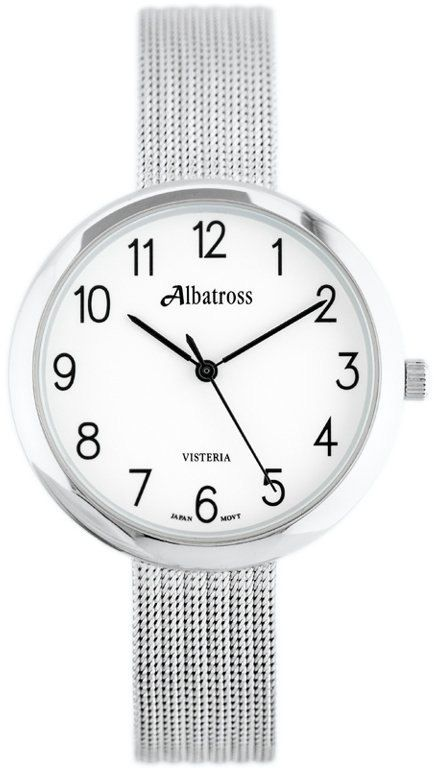 ZEGAREK DAMSKI ALBATROSS ABBC20 (za542a) silver / white