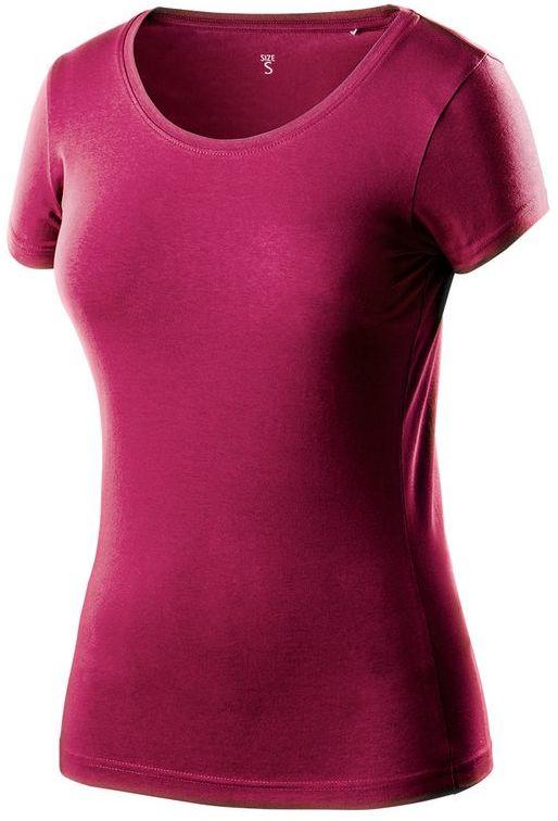 T-shirt damski bordowy, rozmiar XXL 80-611-XXL