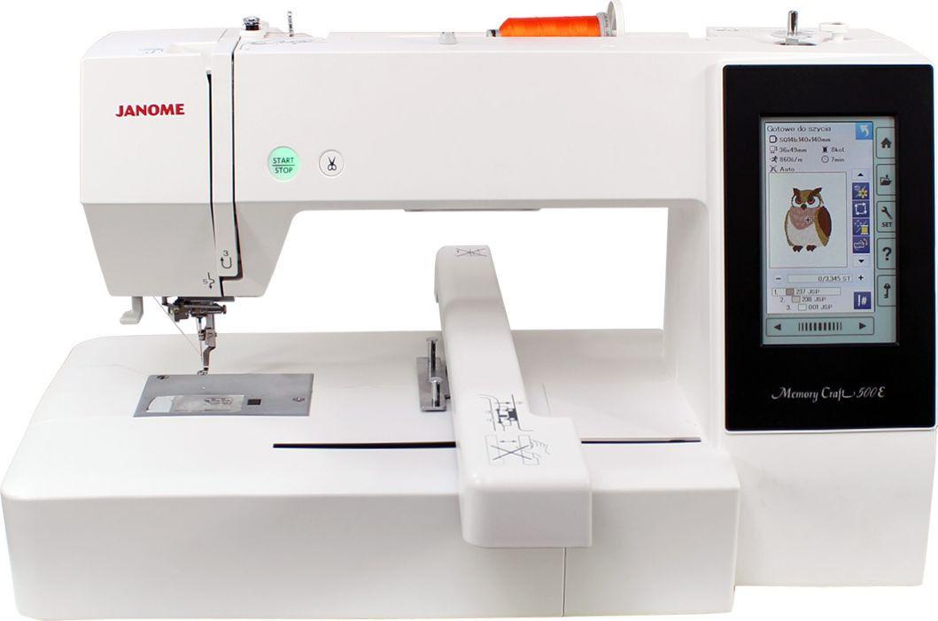 Maszyna do szycia Janome Hafciarka MC500E