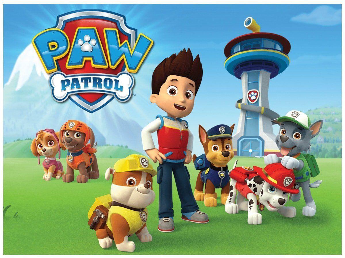 Dekoracyjny opłatek tortowy Psi Patrol - A4