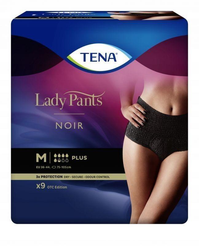 TENA Lady Pants Noir Plus majtki chłonne M, 9 sztuk
