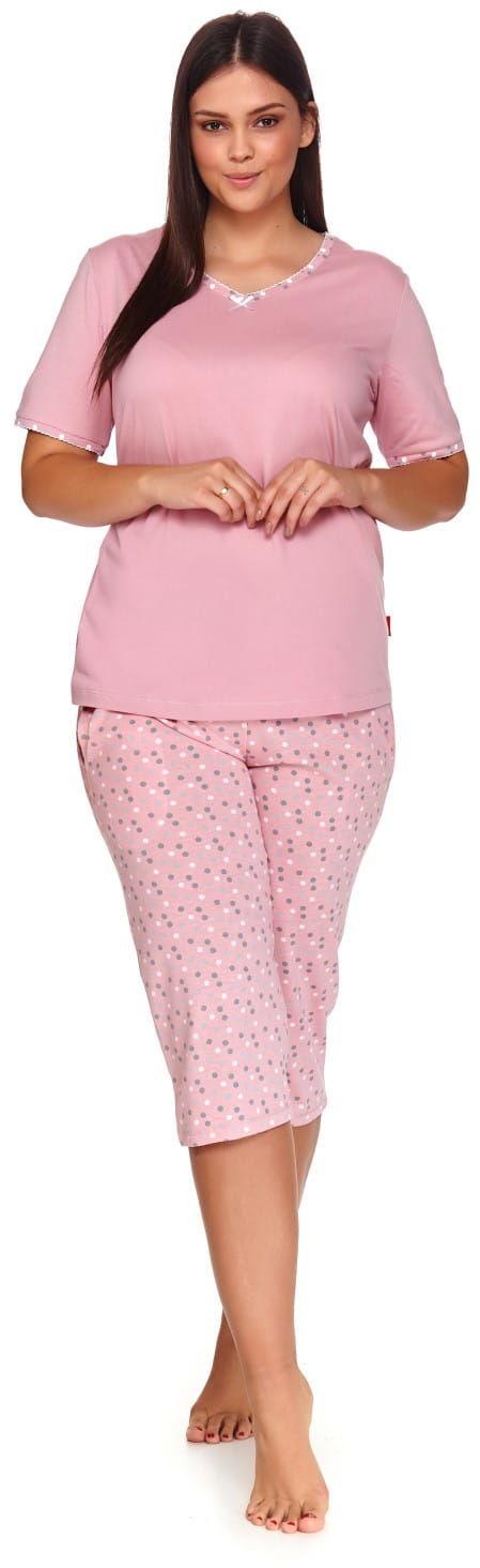 Bawełniana piżama damska Dn-nightwear PB.4152 różowa