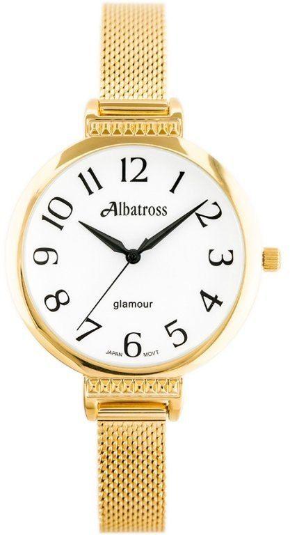 ZEGAREK DAMSKI ALBATROSS ABBC22 (za544a) gold / white