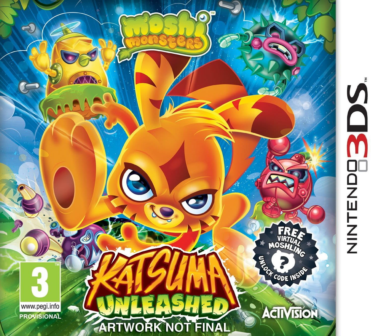 Gra Moshi Monsters: Katsuma Unleashed (Nintendo 3DS)