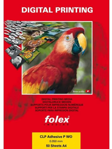 Folia FOLEX CLP Adhesive-P WO - samoprzylepna, biała, 50 mic., A4 / 50 arkuszy (7073)