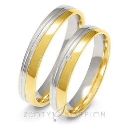Obrączki ślubne dwukolorowe Złoty Skorpion  wzór Au-A225