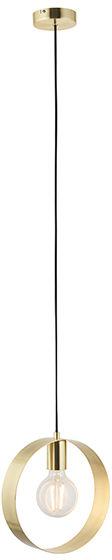 Lampa wisząca Hoop 81921 Endon nowoczesna oprawa w kolorze szczotkowanego mosiądzu