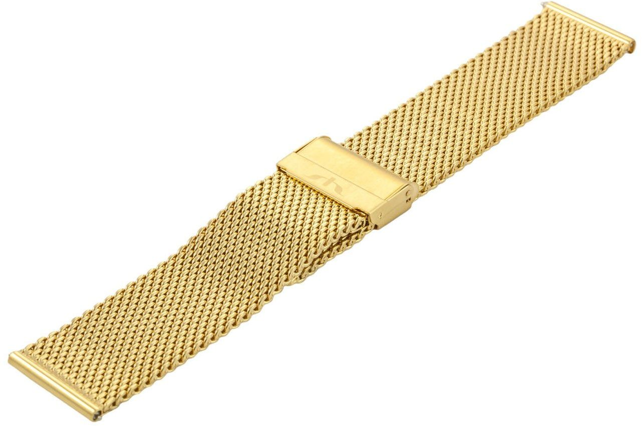Bransoleta stalowa do zegarka 22 mm Bisset BM-102/22 Gold