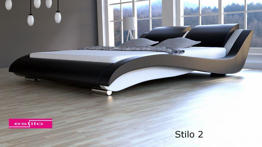 Łóżko do sypialni Stilo-2 skóra naturalna, 200x220
