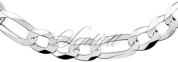 Łańcuszek męski diamentowany wzór figaro płaski pr. 925 ø 0250