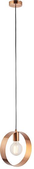 Lampa wisząca Hoop 90456 Endon nowoczesna oprawa w kolorze szczotkowanej miedzi