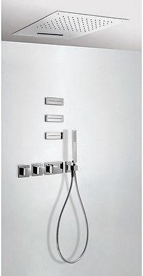 Tres Block-System zestaw prysznicowy z baterią termostatyczną chrom - 207.254.02 Darmowa dostawa