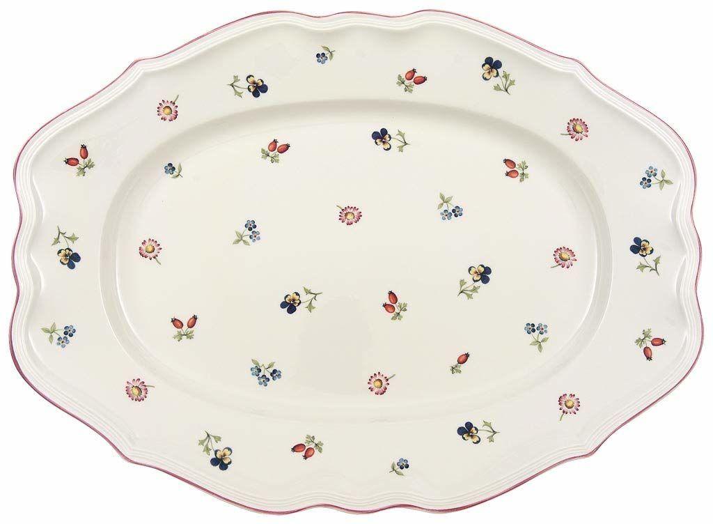 Villeroy & Boch Petite Fleur talerz owalny, porcelana premium, 44 cm
