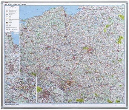 Tablica Mapa drogowa Polski 2x3 magnetyczna 102 x 120 cm