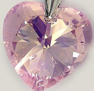 Kryształy duży wisiorek kryształ 28mm ROSALINE łańcuszek srebro