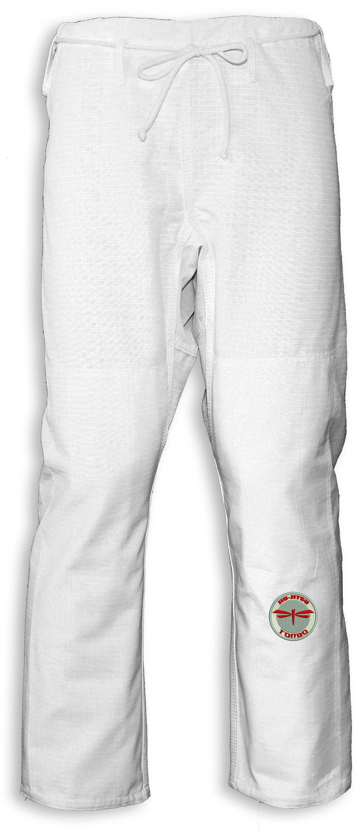 spodnie BJJ / Jiu-Jitsu NAKED-RIPSTOP, białe (27 rozmiarów)