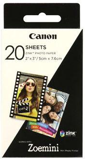 """Canon 3214C002 papier samoprzylepny ZINK 50x76mm (2x3""""), 20 szt., 290 g/m2 thermo"""
