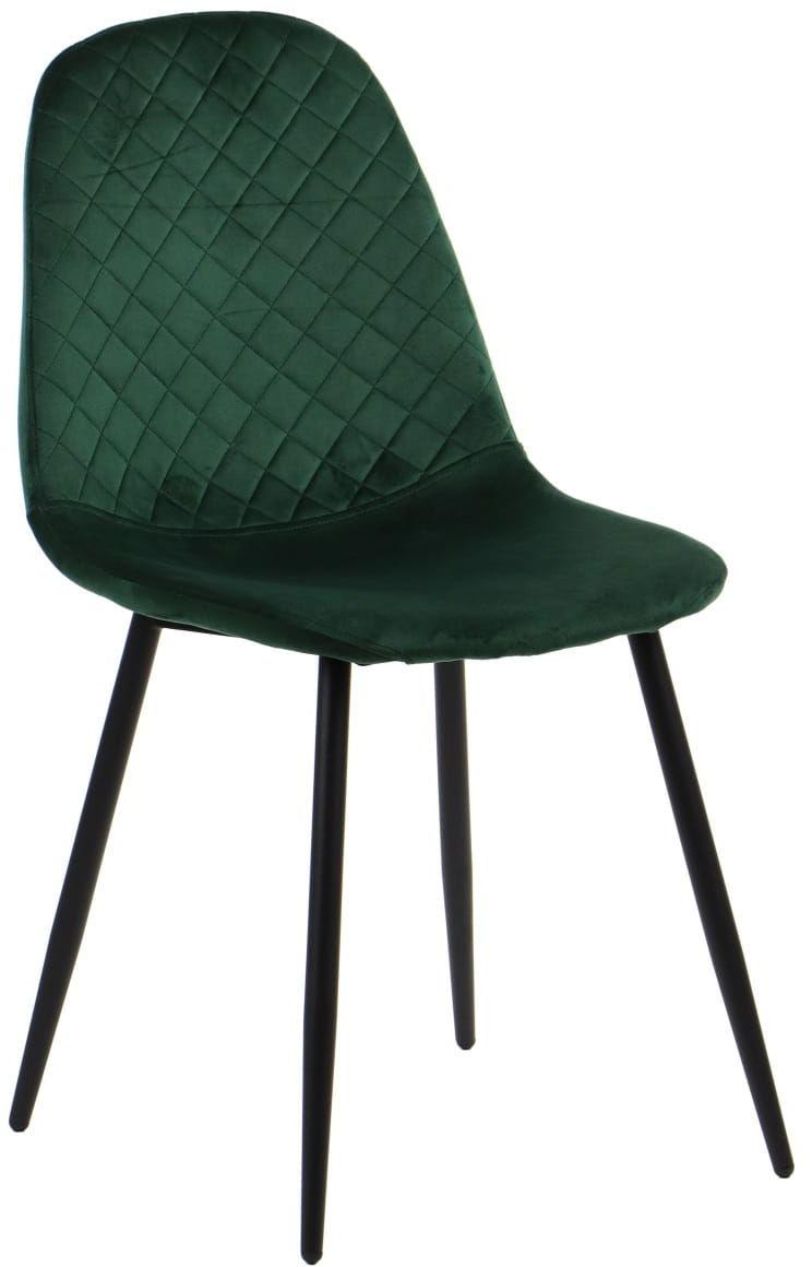 Krzesło tapicerowane do salonu, jadalni i restauracji CN-6001 - zielony