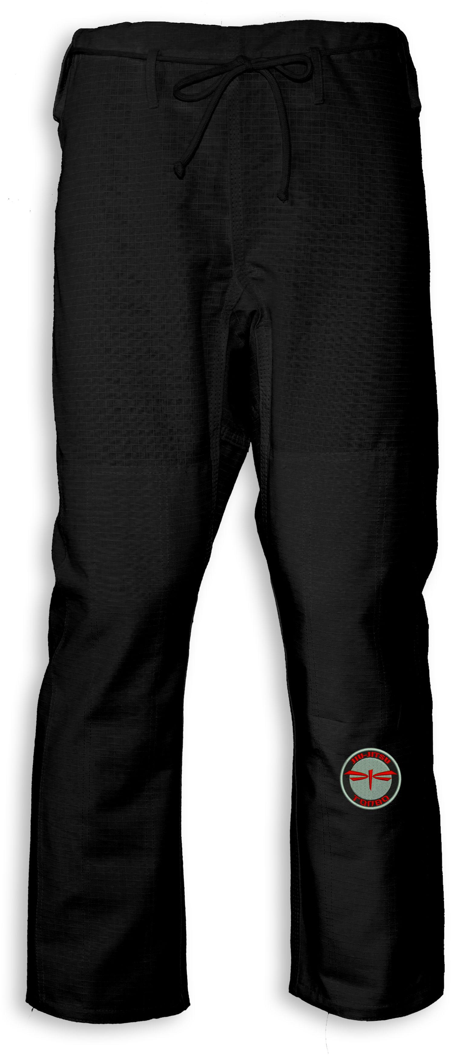 spodnie BJJ / Jiu-Jitsu NAKED-RIPSTOP, czarne (27 rozmiarów)