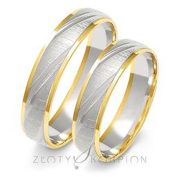 Obrączki ślubne dwukolorowe Złoty Skorpion  wzór Au-A227
