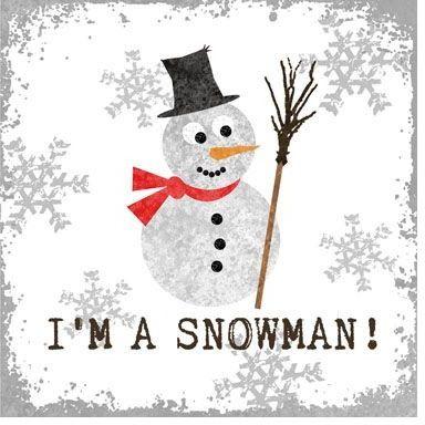 SERWETKI PAPIEROWE Bałwan - I m a snowman!