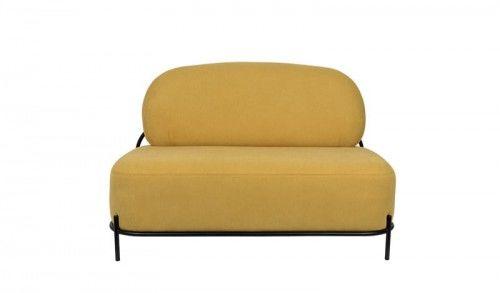 Sofa 2-osobowa Polly żółta