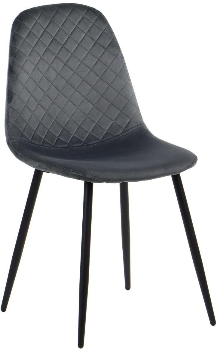 Krzesło tapicerowane do salonu, jadalni i restauracji CN-6001 - szary