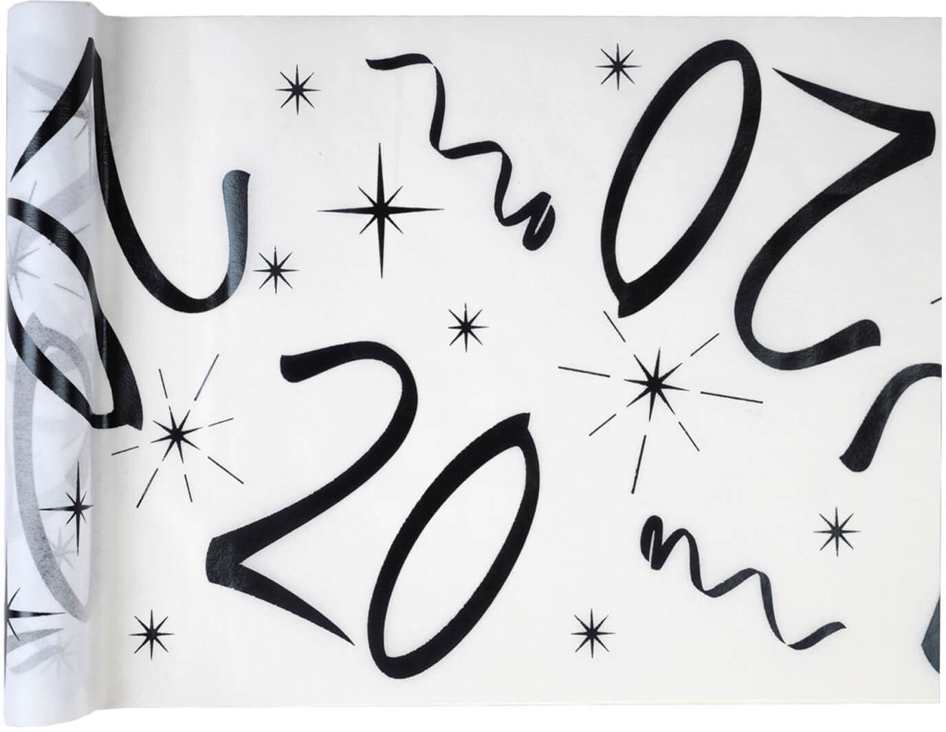 Dekoracja bieżnik na stół z nadrukiem na 20 urodziny - 5 m - 1 szt.