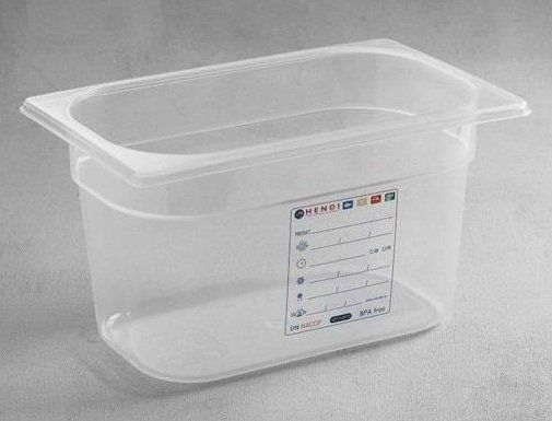 Hendi Pojemnik GN 1/4 HACCP wys. 65 - 200mm - kod 880388