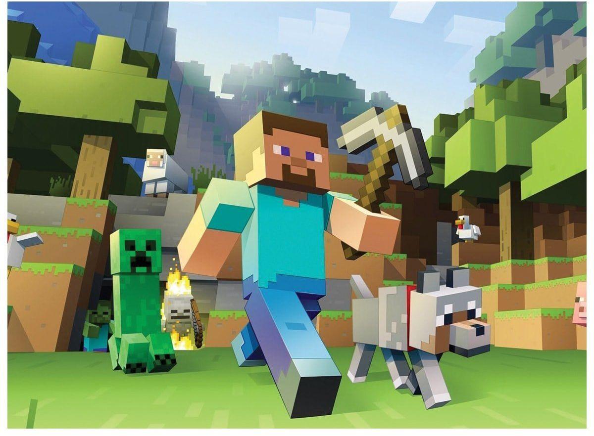 Dekoracyjny opłatek tortowy Minecraft - A4