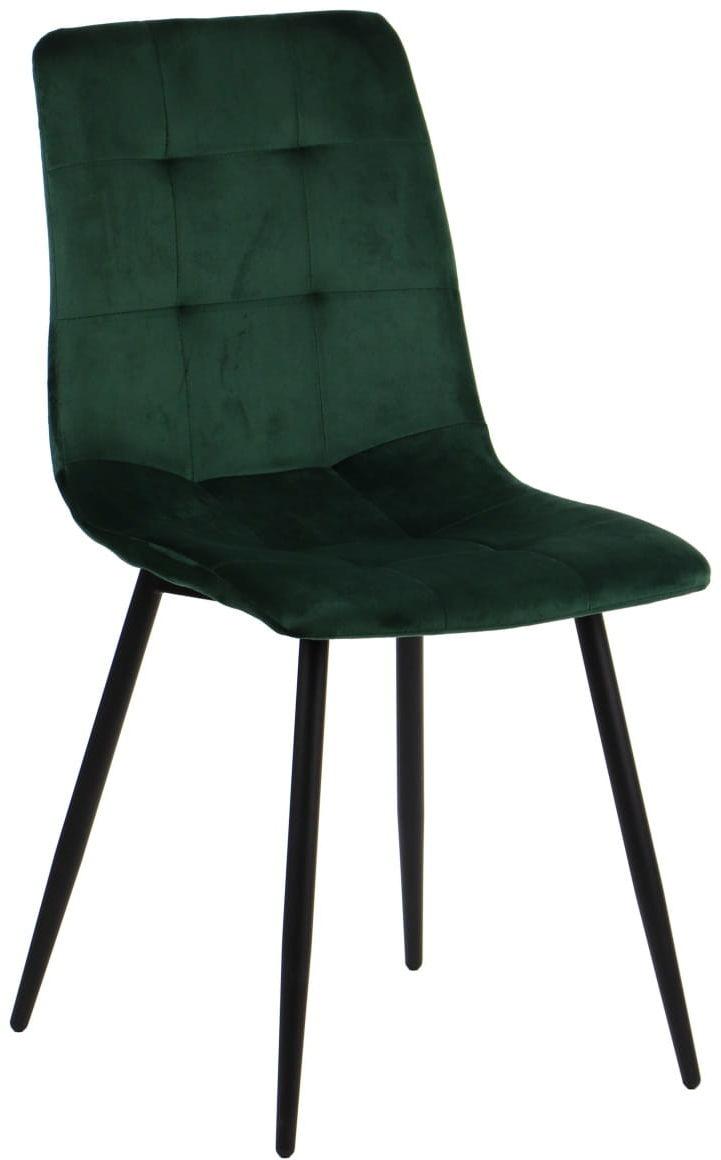 Krzesło tapicerowane do salonu, jadalni i restauracji CN-6004 - zielony