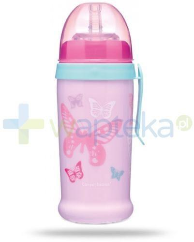 Canpol Babies bidon niekapek Butterfly różowy 350 ml [56/515]