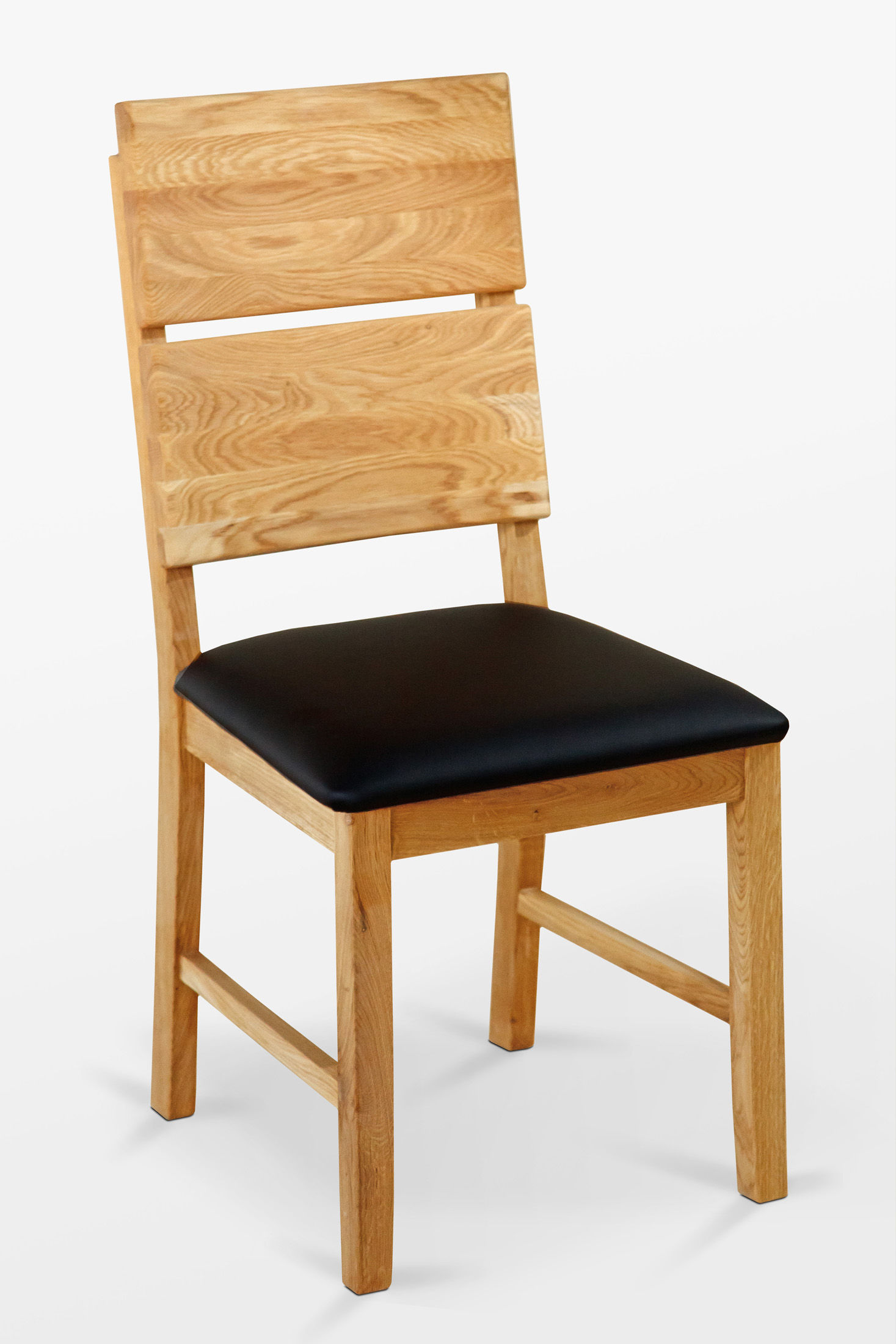 Krzesło dębowe 03 Ekoskóra czarna/biała