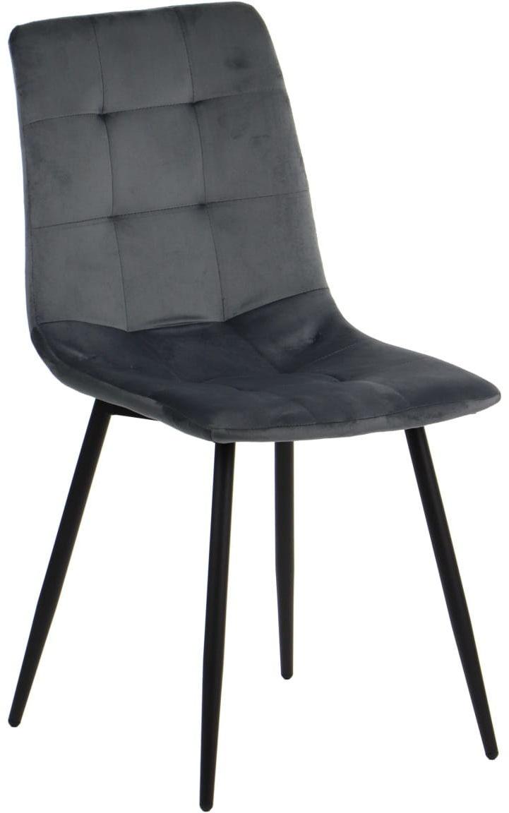 Krzesło tapicerowane do salonu, jadalni i restauracji CN-6004 - szary