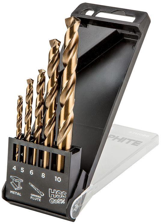 Wiertła do metalu HSS-Co, 4.0 - 10 mm /zestaw 5szt./ 57H086