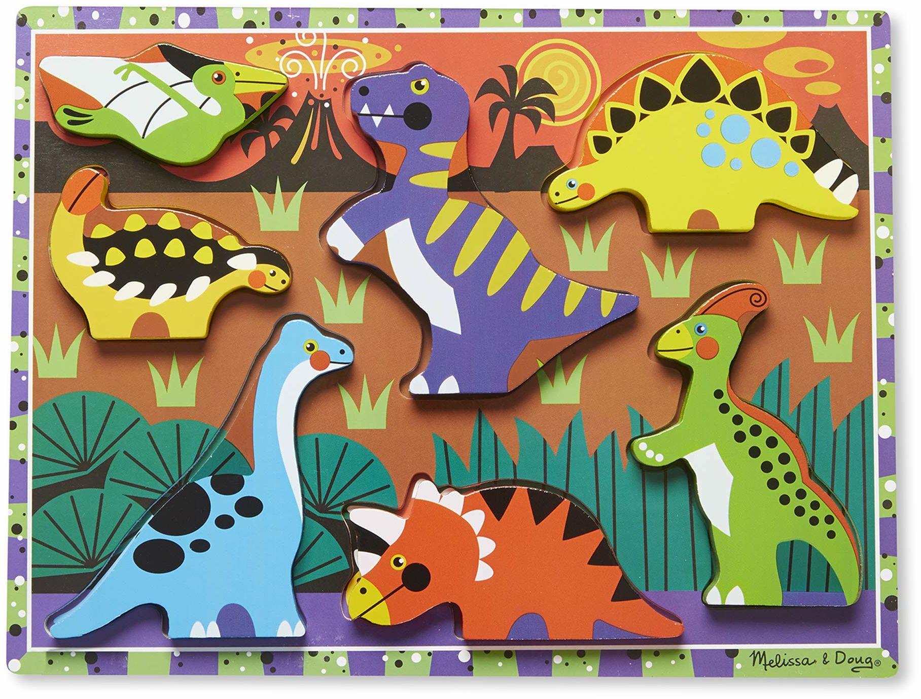 Melissa & Doug 13747 Doug dinozaury grube puzzle