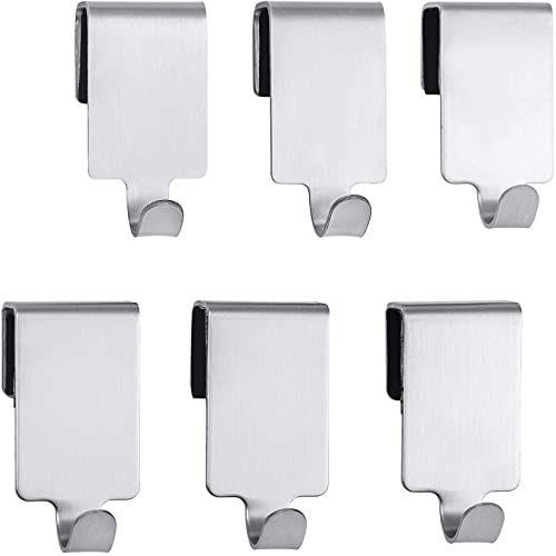 Wenko 54810100 Premium haczyk kuchenny do relingu, stal nierdzewna, 2 x 4 x 2,5 cm, srebrny matowy, zestaw 6 szt.