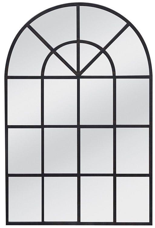 Lustro ścienne w stalowej ramie 90x135