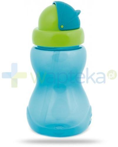 Canpol Babies bidon sportowy ze składaną rurką dla dzieci 12m+ niebieski 270 ml [56/109_blu]