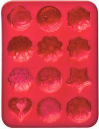 Premier Housewares 12 foremek do ciasta na kwiaty - gorący róż