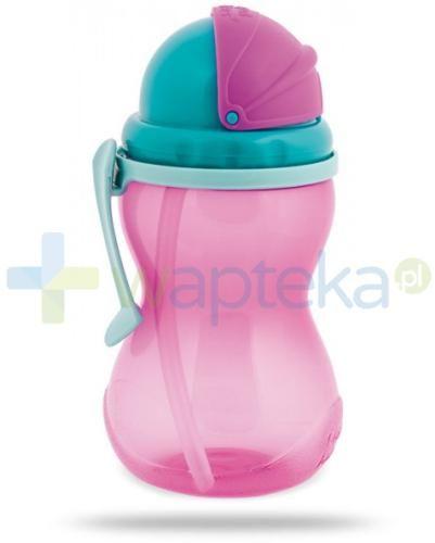 Canpol Babies bidon ze składaną rurką dla dzieci 12m+ różowy 370 ml [56/113_pin]