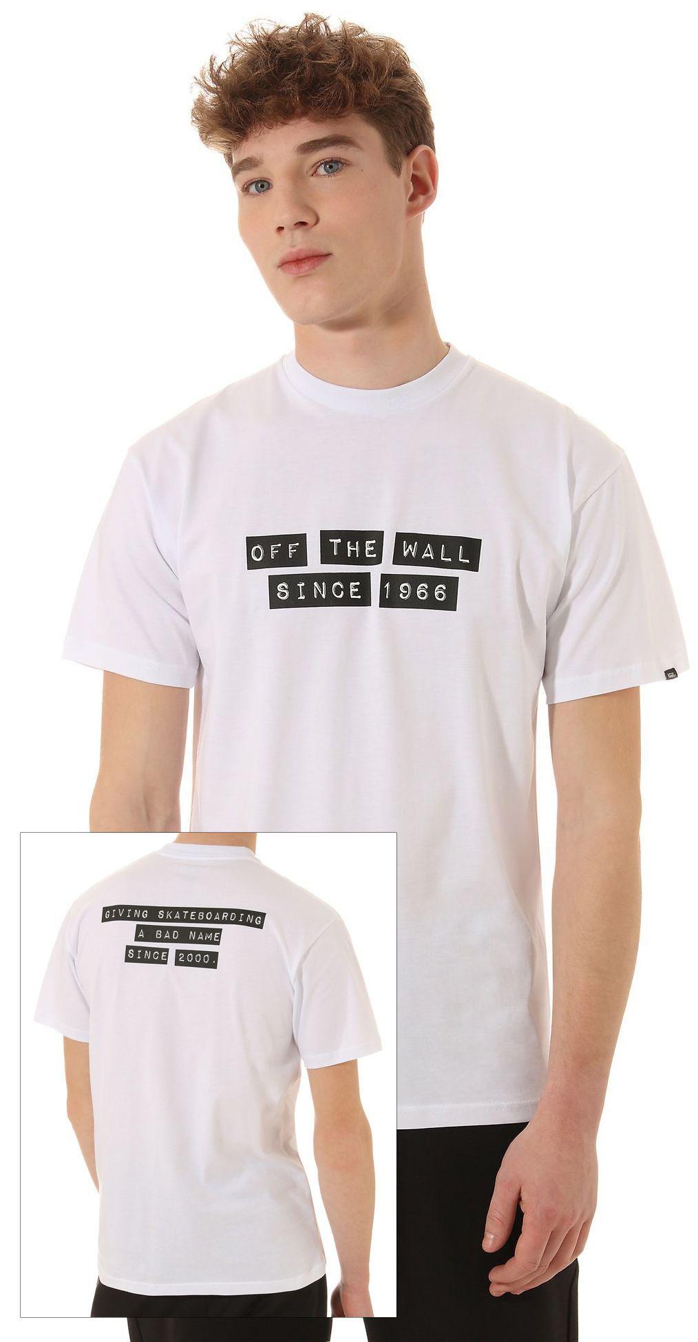t-shirt męski VANS BAKER SS White