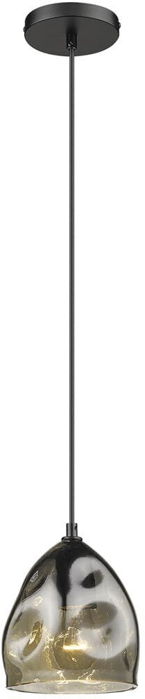 Light Prestige Melt 1 LP-126/1P lampa wisząca czarna metalowa klosz szklany 1x40W E27 15cm