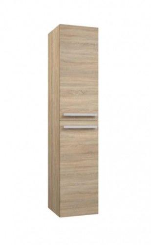 Szafka wysoka łazienkowa dwudrzwiowa 35x35x160cm SERENA, dąb Bardolino szary