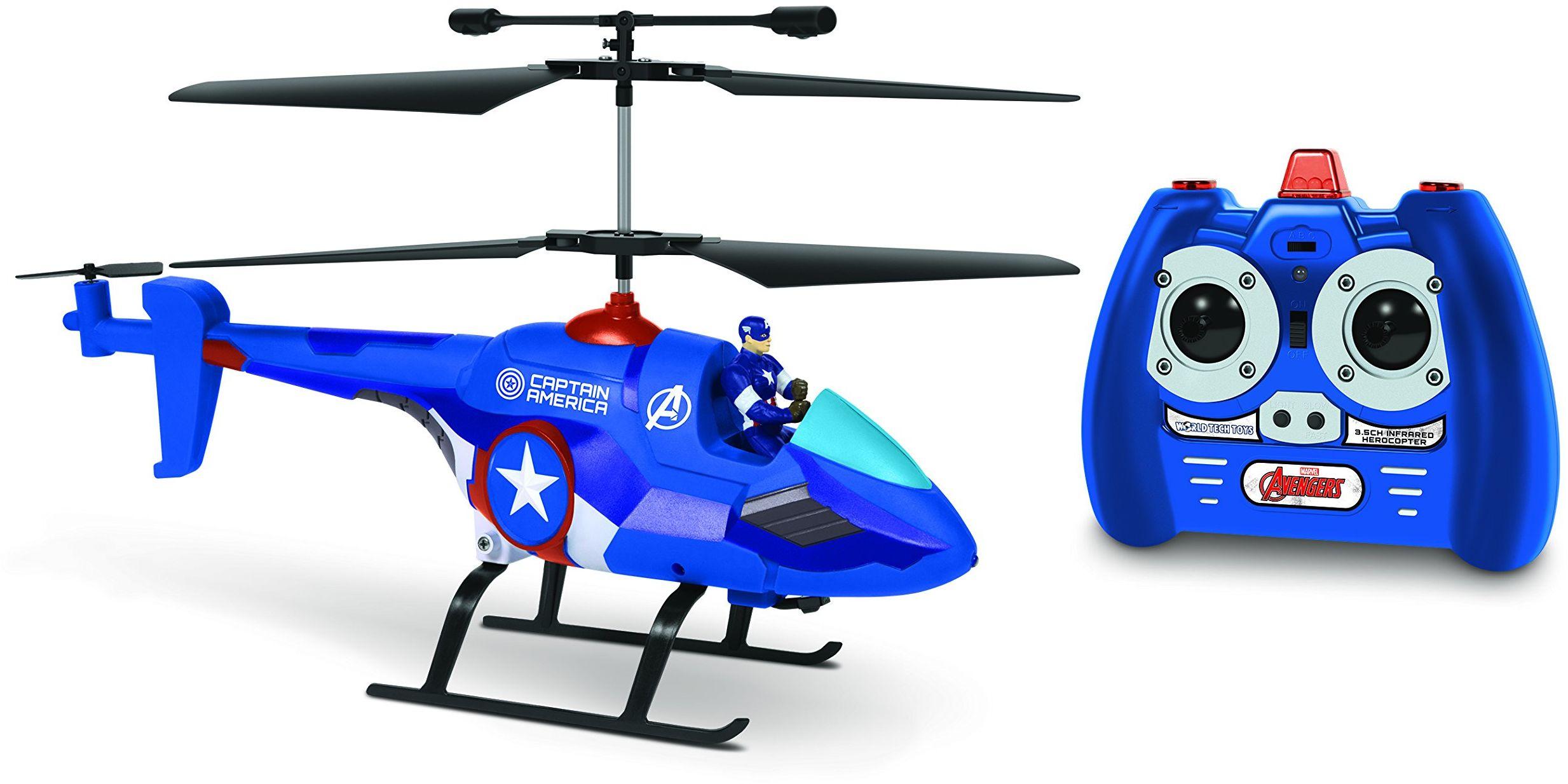 World Tech Toys 33846 3,5 CH Captain America z figurką MARVEL IR helikopter