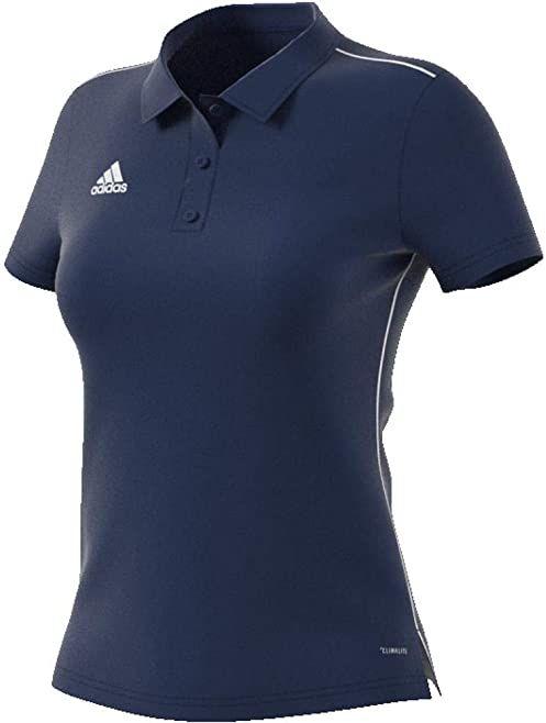 adidas Core18 W koszulka polo damska niebieski ciemnoniebieski/biały XXS